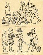 Lot De 2 Cartes - Illustrateur MELEK - Jeux D'enfants - Croix Des Braves, Kamarad - Non Classés