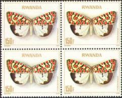Rwanda 0916** 150F Papillon x4 -MNH-