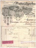 Uralte Rechnung 1909 - Weicker & Hempfing In Chemnitz , Tricotagen Und Wäschefabrik !!! - Kleidung & Textil