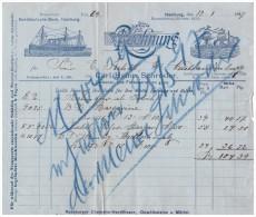 Uralte Rechnung 1897 - C. Schröder In Hamburg 1897 , Colonial Und Fettwaren , Norddeutsche Bank !!! - Lebensmittel
