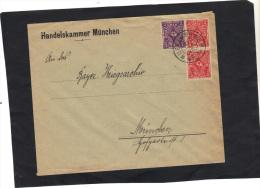 Allemagne Lettre De MÜNCHEN 1923 Timbres Recto Verso - Allemagne