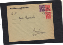 Allemagne Lettre De MÜNCHEN 1923 Timbres Recto Verso - Deutschland