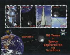 Tuvalu 2008 50 Years Of Space Exploration Minisheet Of 4v  MNH - Space