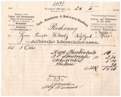Uralte Rechnung 1902 - A. Marschhausen In Friedland , Tuchmanufactur & Modewaren , Mode , Mecklenburg !!! - Kleidung & Textil