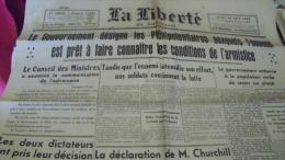 """RARE-""""LA LIBERTE DU SUD-OUEST""""-Jeudi 20 JUIN 1940 - Autres"""