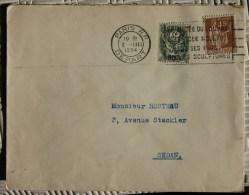 Enveloppe Affranchie Pour Sedan Oblitération Paris Départ Musée Du Louvre - Marcophilie (Lettres)