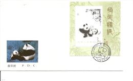 Chine -Pandas ( FDC De 1985 Avec BF à Voir) - 1949 - ... People's Republic