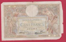 MERSON  //  100 FRANCS  //   27/10/1936   //  ETAT  B // - 100 F 1908-1939 ''Luc Olivier Merson''