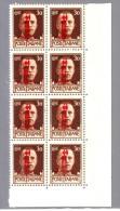 ITALIA ITALY1944 R.S.I   30 Cent. IMPERIALE  SOPRAS.  BLOCCO DI OTTO MNH** - 4. 1944-45 Repubblica Sociale