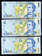 ROMANIA 1998 Banknote 1000 Lei, Pack Of 3 X UNC Notes - Rumania