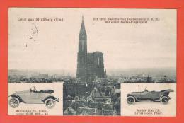 Gruß Aus Straßburg Els. Strasbourg  Der Erste Stadtüberflug Deutschlands 3.5.10 ...Feldpostexped. Réserve MATHIS AUTO - Strasbourg