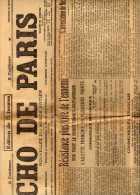 L´Echo De Paris-N°11907-1ere Guerre-Resistance Vive Front Franco-anglais-arrestation De Nicolas II-hésitation Scandinave - Journaux - Quotidiens