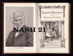 Livre Ancien  -  Sartor Desartus  -  Thomas Carlyle  -    ´´ Collin´s Clear-type Press ´´  - - Old Books