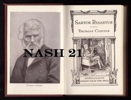 Livre Ancien  -  Sartor Desartus  -  Thomas Carlyle  -    '' Collin's Clear-type Press ''  - - Livres Anciens