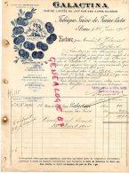 SUISSE - BERNE- BELLE FACTURE GALACTINA FARINE LACTEE AU LAIT PUR DES ALPES SUISSES- 1904 - Switzerland