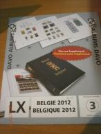SUPPLEMENT DAVO BELGIQUE 2012 LX 3. - Album & Raccoglitori