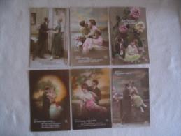 LOT DE 6 CARTES  COUPLES..... - 5 - 99 Postcards