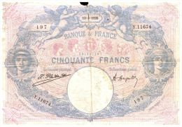 Billets Français  Usagé 1925 - 50 F 1889-1927 ''Bleu Et Rose''