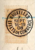 Wisselbrief Dd. 15/6/1908 MET NR. 79 Met Afstempeling Te BRUXELLES Dd. 7/9/1908 (zie Alle Scans) ! ZELDZAAM ! - 1905 Grosse Barbe