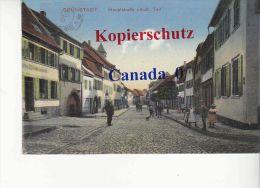 P  9  --- Grünstadt Hauptstraße  18.12.1918  Nach  Paris - Gruenstadt