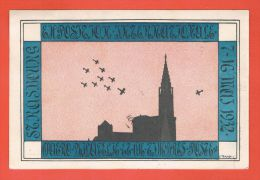 Exposition Internationale D\'Aérophilatélique Et De Timbres Strasbourg 15.5.1932 + Cachet Daguin - Strasbourg