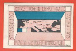 Exposition Internationale D\´Aérophilatélique Et De Timbres Strasbourg 15.5.1932 + Cachet Daguin - Strasbourg