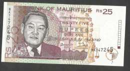 [NC] BANK Of MAURITIUS - 25 RUPEES (1998) - Maurice