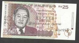 [NC] BANK Of MAURITIUS - 25 RUPEES (1998) - Mauritius