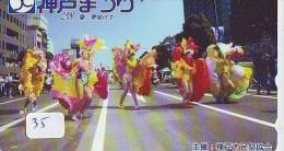 Télécarte Japon * BRASIL Reliée * BRAZIL Related (35) BRAZILIE * Telefonkarte Phonecard Japan * CARNAVAL * FEMME - Advertising