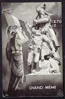 CPA ANCIENNE- FRANCE- MILITARIA- LA RÉPUBLIQUE EN ARMURE DEVANT L'ALSACE DÉFENDANT SON ENFANT- 1915 - Heimat