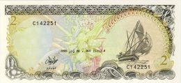 BILLET # MALDIVES # 1990 # PICK 9 # 2 RUFIYAA  # NEUF # - Maldives