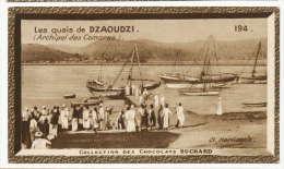 Mayotte Les Quais De Dzaoudzi Comores Cliché Harlingue Chromo Suchard 6 Cms Par 10 - Chromos