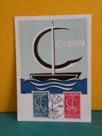 Carte Maxi / FDC, Europa CEPT - Paris - 24.9.1966 - 1er Jour - Europa-CEPT