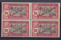 French India1942: Yvert214 Mnh** Block - India (1892-1954)