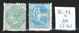 Nouvelle Galle Du Sud 72-73 * Côte 10 € ( Forte Charnière ) - 1850-1906 New South Wales