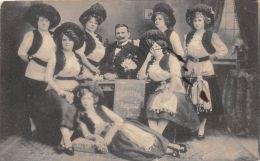 ��  -  Carte Photo non Situ�e  -  Troupe d'Artistes - Cabaret, Cirque  - Damen Blasorchester Augusta ....    -  ��