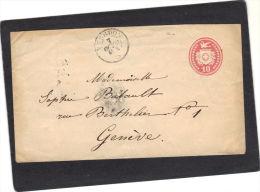 Suisse - Lettre Entier Postal De Yverdon 1867 Pour Genève - Stamped Stationery