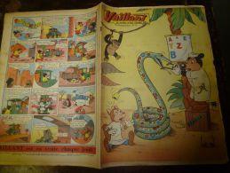 10 Février 1957  VAILLANT    Le Journal Le Plus Captivant     Colette DUVAL La Parachutiste - Vaillant