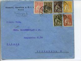 Portugal 1925. Carta De Oporto A Estocolmo. - 1910 - ... Repubblica