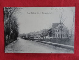 - New York  Long Island  Freeport L.I. West Fulton Street  1907 Cancel    1106 - Long Island