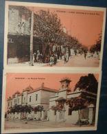 BOGHARI.2 CPa,voyagé,be.Groupe Scolaire,Hotel Atlantide Et Grande Rue Animée - Autres Villes