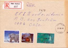 NORWAY - 1996 - R-LETTER 7082 KATTEM 05.06.1996 - Storia Postale