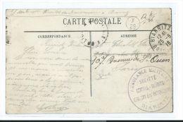 CACHET AMBULANCE MILITAIRE BIARRITZ + X29 DANS UN CERCLE + PARIS X DISTRIBUTION F.M. (PORT OFFERT / FREE SHIPPING)