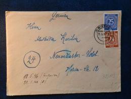 38/113  LETTRE  1946 - American,British And Russian Zone