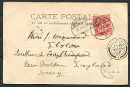 1904 Switzerland Chateau De Chillon Postcard Montreux - Bedford Redirected New Maldon, Surrey - Cartas