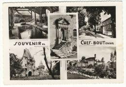 CHEF- BOUTONNE. -  Souvenir De...- Multivues. CPM Dentelée - Chef Boutonne