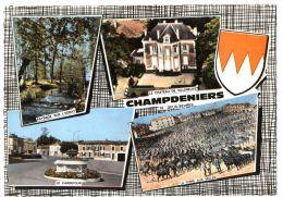 CHAMPDENIERS.- Multivues. CPM Dentelée - Champdeniers Saint Denis