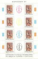 ESPAMER 81 BATALLA DE BAILEN GENERAL JOSE DE SAN MARTIN OFFSET SIN FILIGRANA HOJA BLOC NRO. 46 TBE MNH ARGENTINA - Briefmarkenausstellungen