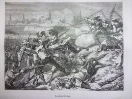 Le Siége D'Arras , Gravure De Soligny , Circa 1850 - Documents Historiques