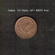 IRELAND    1/2  PENNY  1971  (KM # 19) - Ireland